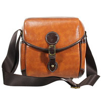 New Arrival Uisex Vintage PU Leather Brown Shoulder Camera Case Bag For DSLR HOT