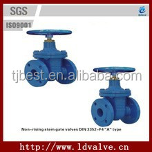 A-type DIN3352-F4 Standard Flanged Cast Iron Non-rising Stem Gate valves