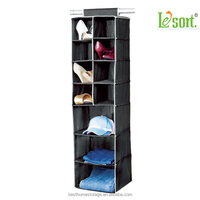 2015 New products Fabric Clothes Storage Hanging Closet Shoe Organizer Wholesale