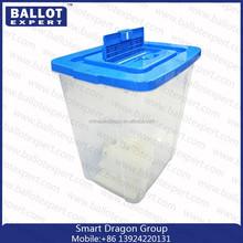 high quality China cheap transparent plastic ballot box