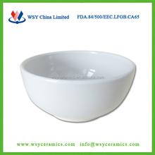 plain white ceramic popcorn soup bowl without handle