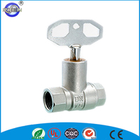 forged brass lockable ball valve with key