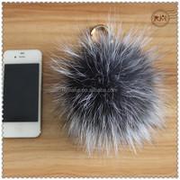 14cm Big Fox Fur Pompons Keychain Accessories