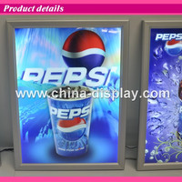 Led snap frame aluminum light box extrusion advertisement slim movie poster light box