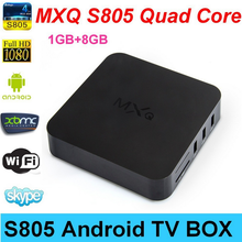 Andriod tv box amlogic S805 mxq tv box KODI Quad Core Android 4.4 Tv Box mxq