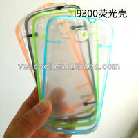 Ultra-Thin Glossy Luminous Glow Bumper Hard PC Case Cover Shell for Samsung Galaxy S3 S III 3 i9300 Case with Noctilucent