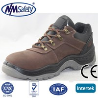 NMSAFETY nubuck leather safety shoes/work footwear