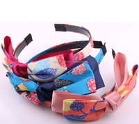 Easy style Comfortable Women's hiar Hoop band girls headban Colorful Bow
