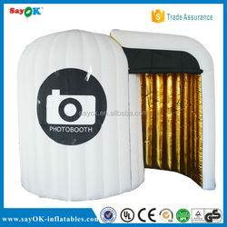 Custom made inflatable photo booth kiosk with led light/Used photo booth made in china