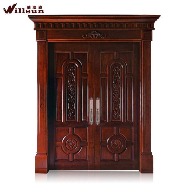 Frente a la puerta de madera moderno im genes de la puerta for Disenos puertas de madera exterior