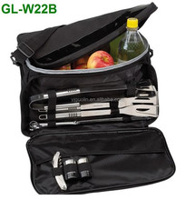 Promotional gift outdoor bbq with cooler bag