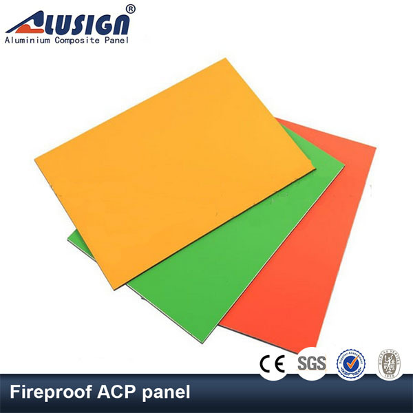 Fireproof Composite Panel : Alusign astm pvdf fireproof plastic wall panel board