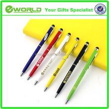 Logo customized Business gift touch stylus metal body ballpoint pen