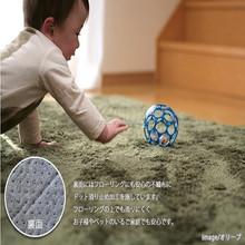 green 100% polyester microfiber children anti-slip rug