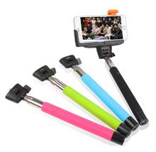 colourful wireless monopod handness shutter button bluetooth selfie stick 2015