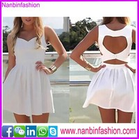 wholesale white backless pictures of casual dress