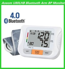 Medical Devices Bluetooth Blood Pressure Monitor Connected to Computer with Pulse Heart Beat Function