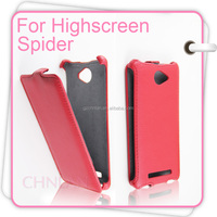 Hot Selling Vertical Flip Wallet Design Mobile Phone Covers Suitable for Highscreen Spider