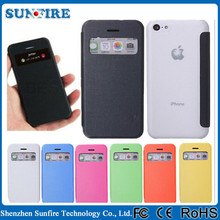 for iphone 5c flip cover with window,fancy cover for iphone 5c, for iphone5c case