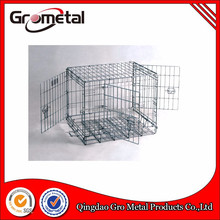 Solid portable foldable metal wire pet cage dog crate