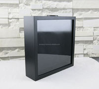 Red wine plug display case cabinet Decal Photo Frame Import Picture Frames black white MDF Trunk Box
