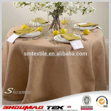 Natural jute table cloths for round tables