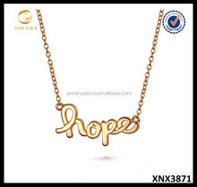 Hope Message Necklace Sterling Silver Layered Necklace YFN New Design Wholesale