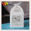 Cute butterfly shape wedding cup cake box with OEM bride and groom name's from yoyocraft lovely mini cake box for wedding