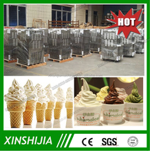 2015 New automatic commercial three flavors fruit ice cream machine(skype:xinshijia.jessica)