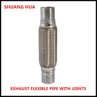 auto exhaust pipe with inner braid/interlock/joints, manufacturing hot selling auto parts