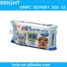 2015 New Design Pet Wet Wipes Dog Clean Ear and Eye Wet Wipes for OEM