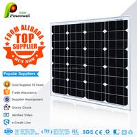 Powerwell 50W Mono Crystaline Silicon PV Module/Solar Panel