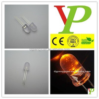 Factory low price 10mm amber led diode