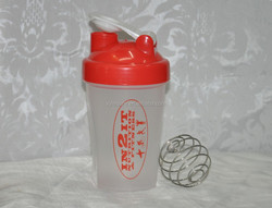 20oz Red Full Colored Classic Blender Bottle Shaker Cup With Wire Whisk Mixing Ball
