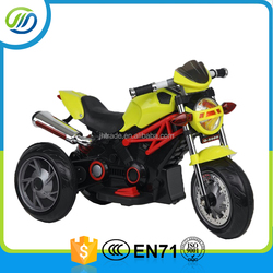 Battery operated mini kids electric motorcycle 3 wheels