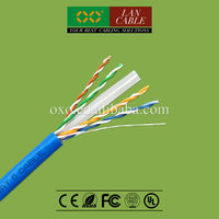 Commscope Tech 305m 1000ft RoHS New PVC Jacket 4PR 24AWG 0.52mm Solid Bare Copper Cat 6 UTP LAN Cable