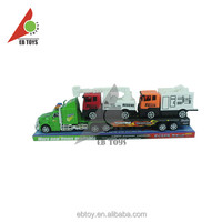 2014 New product inertia tractors trailers two fire engines car toy