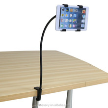 Factory Direct Promotional Desktop Powerful clip Tablet stand Holder For Compatible Ipad