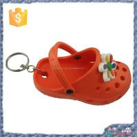 hot sale 3d PVC slipper CROCS keychain promotional gift