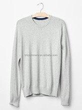 AW new men's sweater T-shirt sweater 2015 pure cotton long sleeve casual cashmere sweater