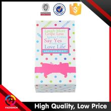 Top Quality Custom Print Folding Waxed Paper Gift Bags And Boxes