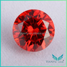 Round CZ Gem / Red Gemstone / Price Of A price Garnet Stone