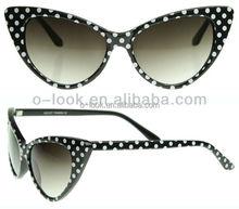 New Womens vintage retro 1950's polka dot cat eye fashion sunglasses
