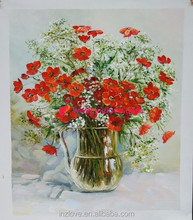 decorative magnolia flower oil painting on canvas