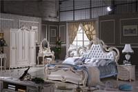 new product bedroom set/ home furniture/ king size bed/ carved wood and MDF bedroom set L105A