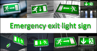 Indoor OEM Aluminum material best price rechargeable lamp & light emergency emergency exit sign board