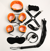 Restraint kit 8pcs SM Sex suit Mask/Rope/Ball Gag/Cuffs/Collar/Whip /Hotgie For Male/Female Bondage
