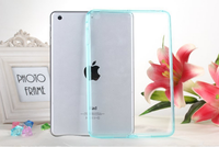 For ipad mini 123 bumper back cover for apple ipad mini tpu + pc hybrid transparent cases
