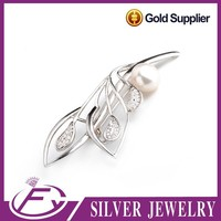 Charming style micro pave setting 925 sterling silver brooch jewelry