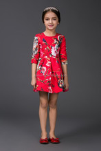High quality and cheap price baby cotton frocks designs 100 % cotton dresses baby girls 1/2 sleeves casual dresses